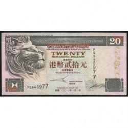 Hong Kong - Pick 201d - The H. S. B. C. Lim. - 20 dollars - 01/01/2001 - Etat : TTB-
