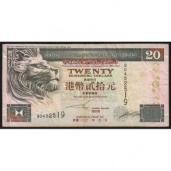 Hong Kong - Pick 201d - The H. S. B. C. Lim. - 20 dollars - 01/01/2001 - Etat : TB