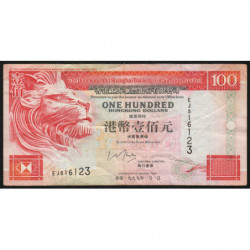 Hong Kong - Pick 203c - The H. S. B. C. Lim. - 100 dollars - 01/01/1999 - Etat : TB