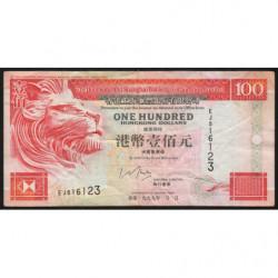 Hong Kong - Pick 203c - The H. S. B. C. Lim. - 100 dollars - 01/01/1999 - Etat : TB
