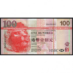 Hong Kong - Pick 209b - The H. S. B. C. Lim. - 100 dollars - 01/01/2005 - Etat : TTB+