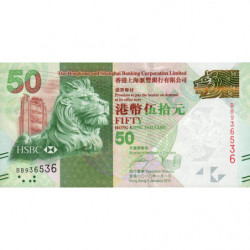 Hong Kong - Pick 213a - The H. S. B. C. Lim. - 50 dollars - 01/01/2010 - Etat : NEUF