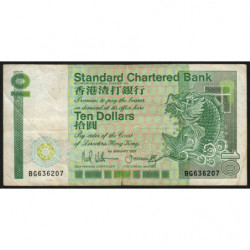 Hong Kong - Pick 278b - Standard Chartered Bank - 10 dollars - 01/01/1987 - Etat : TB+