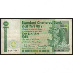 Hong Kong - Pick 278b - Standard Chartered Bank - 10 dollars - 01/01/1987 - Etat : TB+