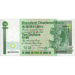 Hong Kong - Pick 278b - Standard Chartered Bank - 10 dollars - 01/01/1987 - Etat : SUP