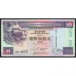 Hong Kong - Pick 202e - The H. S. B. C. Lim. - 50 dollars - 01/01/2002 - Etat : NEUF
