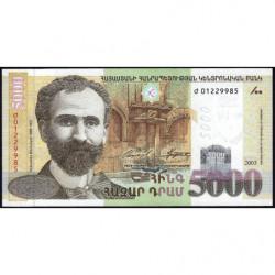 Arménie - Pick 51b - 5'000 dram - 2003 - Etat : NEUF