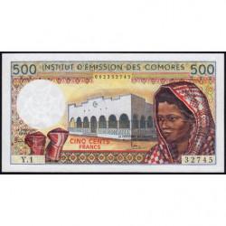 Comores - Pick 7_2 - 500 francs - 1976 - Etat : NEUF