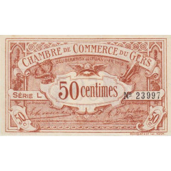 Auch (Gers) - Pirot 15-11 - 50 centimes - Série L - 17/01/1918 - Etat : SPL