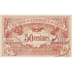 Auch (Gers) - Pirot 15-11 - Série L - 50 centimes - 1918 - Etat : SPL