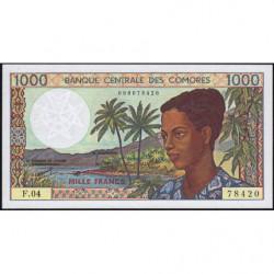Comores - Pick 11b1 - 1'000 francs - 1996 - Etat : NEUF