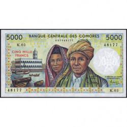 Comores - Pick 12a_2 - 5'000 francs - 1988 - Etat : NEUF