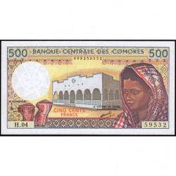 Comores - Pick 10b_1 - 500 francs - 1994 - Etat : NEUF