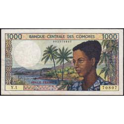 Comores - Pick 11a - 1'000 francs - 1984 - Etat : TB