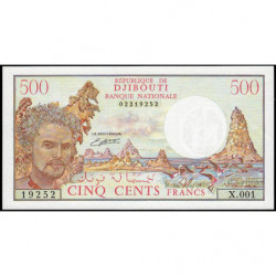 Djibouti - Pick 36b - 500 francs - 1988 - Etat : NEUF