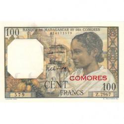 Comores - Pick 3b_2 - 100 francs - 1963 - Etat : pr.NEUF