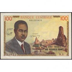 Cameroun - Pick 10 - 100 francs - Série N.1 - 1962 - Etat : pr.NEUF