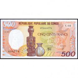 Congo (Brazzaville) - Pick 8c - 500 francs - 01/01/1990 - Etat : NEUF