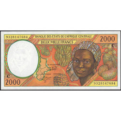 Congo (Brazzaville) - Afr. Centrale - Pick 103Ca - 2'000 francs - 1993 - Etat : NEUF