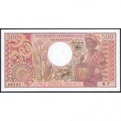 Centrafrique - Pick 9_3 - 500 francs - Série W.7 - 01/06/1981 - Etat : NEUF