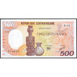 Centrafrique - Pick 14b - 500 francs - Série M.02 - 01/01/1986 - Etat : NEUF