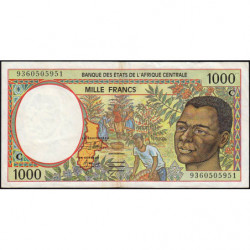 Congo (Brazzaville) - Afr. Centrale - Pick 102Ca - 1'000 francs - 1993 - Etat : TB+