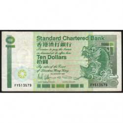 Hong Kong - Pick 278d - Standard Chartered Bank - 10 dollars - 01/01/1991 - Etat : TB+