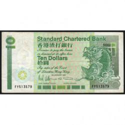 Hong Kong - Pick 278d - Standard Chartered Bank - 10 dollars - 01/01/1991 - Etat : TB+