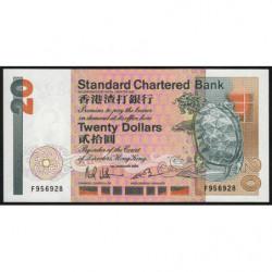 Hong Kong - Pick 279a - Standard Chartered Bank - 20 dollars - 01/01/1985 - Etat : NEUF