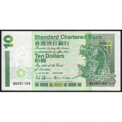 Hong Kong - Pick 284a - Standard Chartered Bank - 10 dollars - 01/01/1993 - Etat : SUP