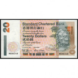 Hong Kong - Pick 285b - Standard Chartered Bank - 20 dollars - 01/01/1994 - Etat : SUP
