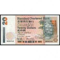 Hong Kong - Pick 285b - Standard Chartered Bank - 20 dollars - 01/01/1994 - Etat : SUP