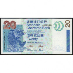 Hong Kong - Pick 291 - Standard Chartered Bank - 20 dollars - 01/07/2003 - Etat : NEUF