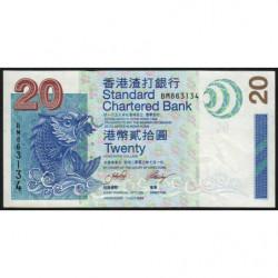 Hong Kong - Pick 291 - Standard Chartered Bank - 20 dollars - 01/07/2003 - Etat : TTB