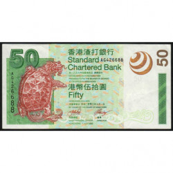 Hong Kong - Pick 292 - Standard Chartered Bank - 50 dollars - 01/07/2003 - Etat : TTB