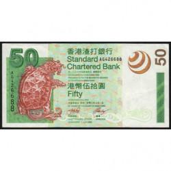 Hong Kong - Pick 292 - Standard Chartered Bank - 50 dollars - 01/07/2003 - Etat : TTB