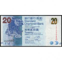 Hong Kong - Pick 297a - Standard Chartered Bank - 20 dollars - 01/01/2010 - Etat : NEUF