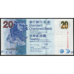 Hong Kong - Pick 297c - Standard Chartered Bank - 20 dollars - 01/01/2013 - Etat : NEUF