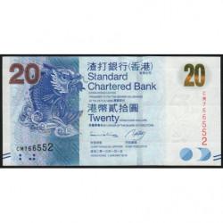 Hong Kong - Pick 297c - Standard Chartered Bank - 20 dollars - 01/01/2013 - Etat : NEUF