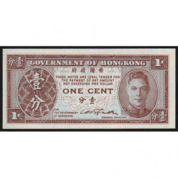 Hong Kong - Pick 321 - Government - 1 cent - 1945 - Etat : NEUF
