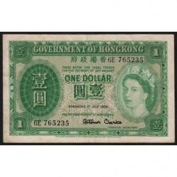 Hong Kong - Pick 324Ab - Government - 1 dollar - 01/07/1959 - Etat : TTB