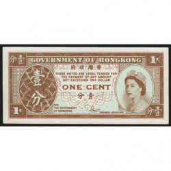 Hong Kong - Pick 325c - Government - 1 cent - 1981 - Etat : SPL