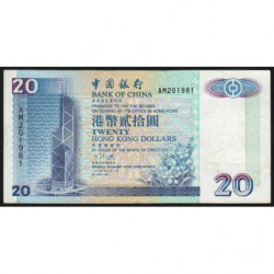 Hong Kong - Pick 329a - Bank of China - 20 dollars - 01/05/1994 - Etat : TB+