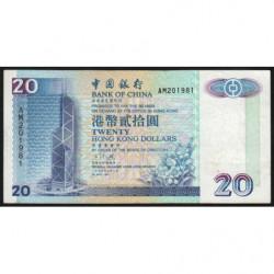 Hong Kong - Pick 329a - Bank of China - 20 dollars - 01/05/1994 - Etat : TB+