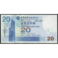 Hong Kong - Pick 335c - Bank of China - 20 dollars - 01/01/2006 - Etat : NEUF