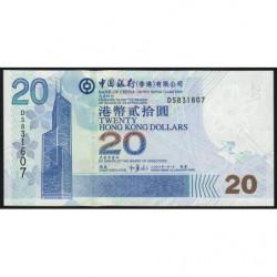 Hong Kong - Pick 335c - Bank of China - 20 dollars - 01/01/2006 - Etat : NEUF