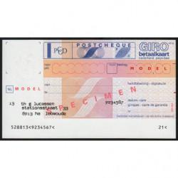 Hollande - Postchèque spécimen - 1980 - Etat : NEUF
