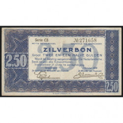 Hollande - Pick 62 - 2,50 gulden - 01/10/1938 - Etat : SUP