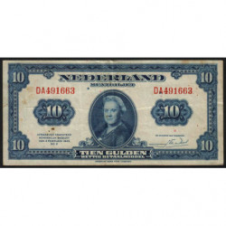 Hollande - Pick 66 - 10 gulden - 04/02/1943 - Etat : TTB