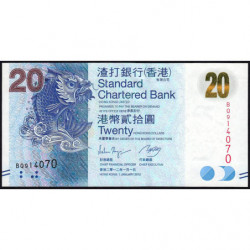 Hong Kong - Pick 297b - Standard Chartered Bank - 20 dollars - 01/01/2012 - Etat : NEUF